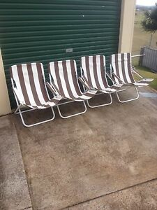 Fold up canvas chairs Bolwarra Maitland Area Preview
