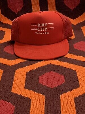 "Bike City ""the Best In Bmx"" Hat Mesh Cap VTG Trucker"