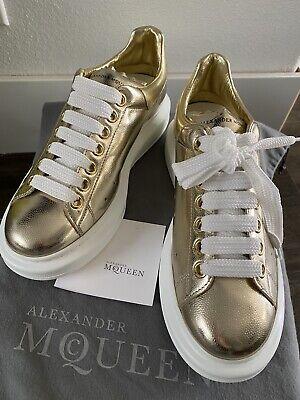 100% Authentic Alexander McQueen Sneakers, Gold Size 38