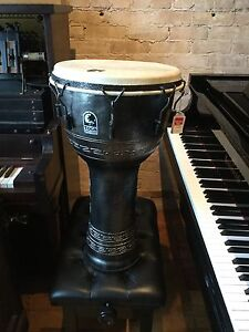 "TOCA Percussion  26"" Djembe Mechanically tuned Silver With bag"