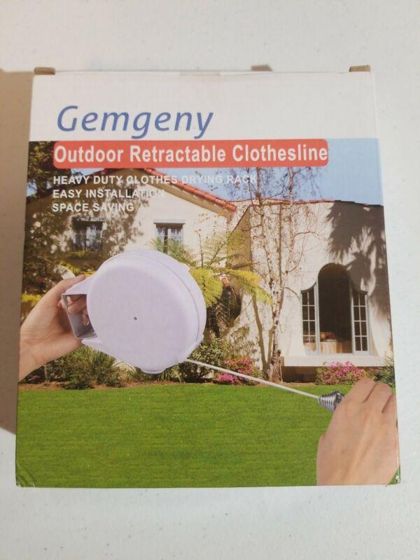 Gemgeny Durable Outdoor Retractable Clothesline 40