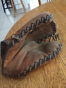 Antique  gant baseball de premier but