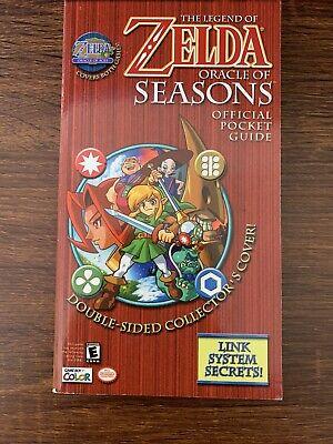 Zelda Pocket Guide Oracle of Ages & Seasons 2-Sided Gameboy Nintendo Game Boy