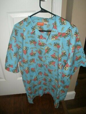 VTG Nickelodeon Spongebob Squarepants Pajamas SET Mens MED(32-34) HONG KONG RARE - Spongebob Squarepants Pajamas