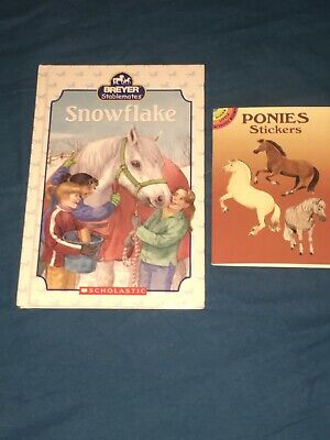 """Snowflake"" Breyers Stablemates Book. With Horse And Pony Sticker Booklet!!"