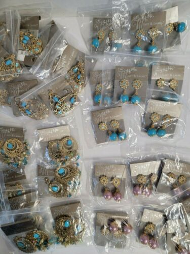 Bulk Wholesale Mixed Lot of LUCY & LAUREL Quality Earrings Lot of 35! Turquoise