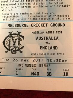 Boxing Day ashes test MCC reserve seat Day 1
