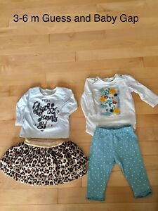 Guess and Baby Gap outfits