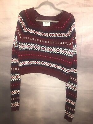 abercrombie fitch New York Large Holiday Knit Sweater Long Sleeve Multi Color for sale  Kenner