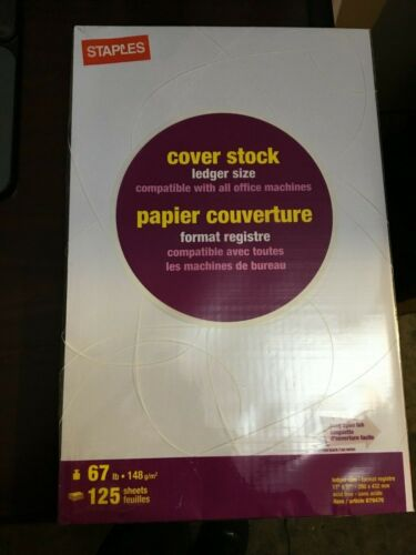 "Staples Cover Paper, 11"" x 17"", White - 125 sheets"
