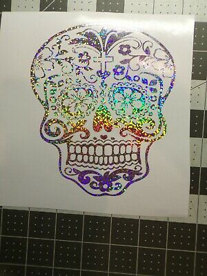 Day of the Dead Sugar Skull Sticker Decal - Day Of The Dead Stickers