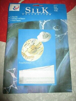 NIP Arty's Silk Collection BLANK 100% SILK Adult FOLDABLE CHINA HAT to Paint