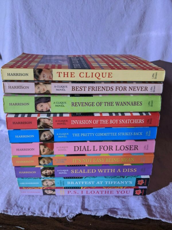The Clique Series Complete Run 1 - 10 by Lisi Harrison PB Lot Young Adults Teen