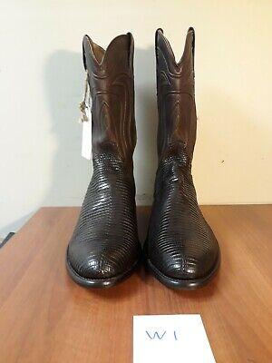 "Tecovas ""The Nolan"" Chocolate Brown Lizard Leather Men's 14 EE Boots(#W1) Chocolate Lizard Boots"