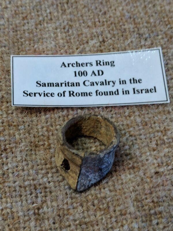 RARE!! ANTIQUE ANCIENT 100AD ERA SAMARITAN CAVALRY ROMAN MILITARY ARCHERS RING