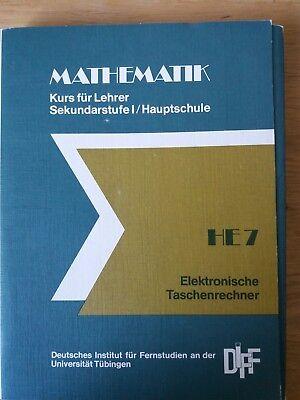 Mathematik für Lehrer Sekundarstufe Hauptschule Taschenrechner