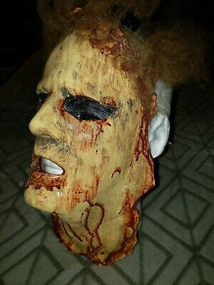 Halloween Scary Adult Bloody  Face Mask Costume Horror Latex Mask no tags