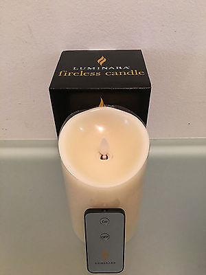"NEW Model, Luminara Flameless Candle 3.5"" x 7""  Vanilla Scented Ivory, 1 Remote"
