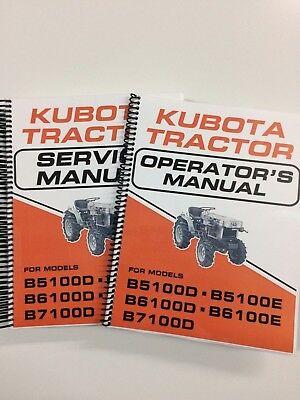 Service Manual Operators Manual For Kubota B5100 B6100 B7100 Tractor Lot