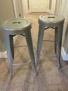 Outdoor metal bar stools