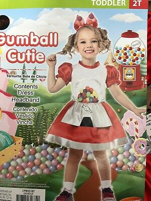 Halloween Costume Girls Toddlers Gumball Cutie Size 2T New