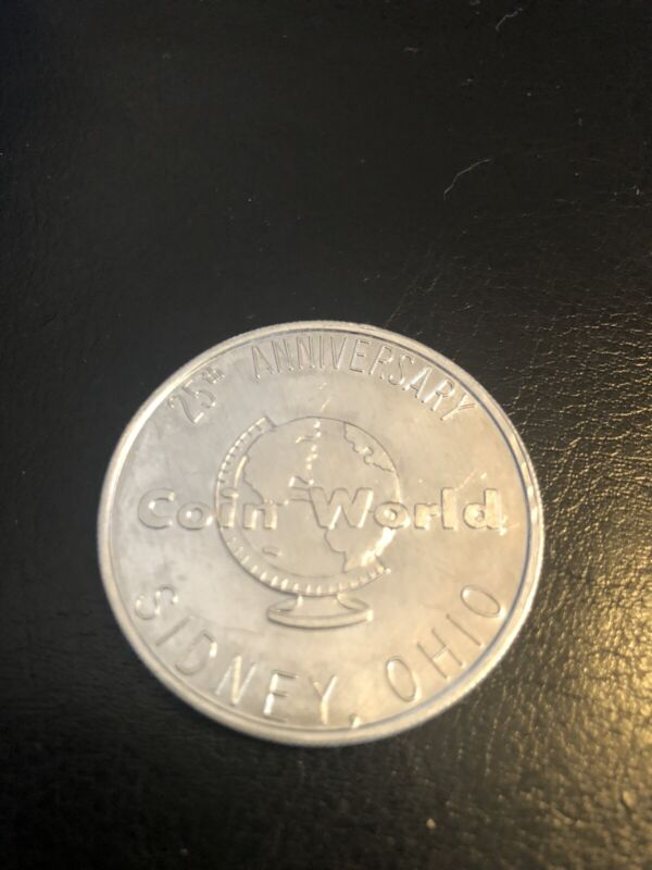VINTAGE 1985 COIN WORLD CAR WASH TOKEN 25TH ANNIVERSARY SIDNEY OHIO NICE RARE