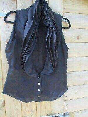 vintage black silk top ALEXANDER MCQUEEN IT44 UK12 early '98 piece