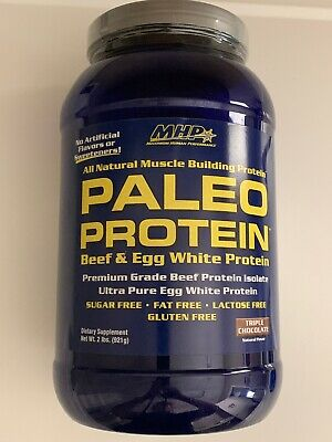MHP PALEO PROTEIN Natural Muscle Building Beef& Egg White Chocolate Best By (Best Muscle Building Powder)