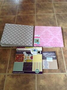 Scrapbook kit and albums brand new craft