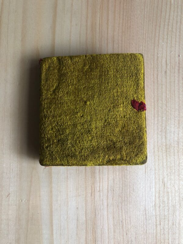 Antique Velvet 19th C Sewing Needle & Pin Book-Keep-Holder