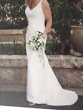 WHITE DUPION SILK WEDDING DRESS - A TOUCH OF CLASS - PERTH WA Stirling Stirling Area Preview