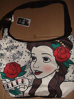 Nwt Beauty And The Beast Belle Crossbody Disney Roses Tattoo Hobo Tote Bag Purse