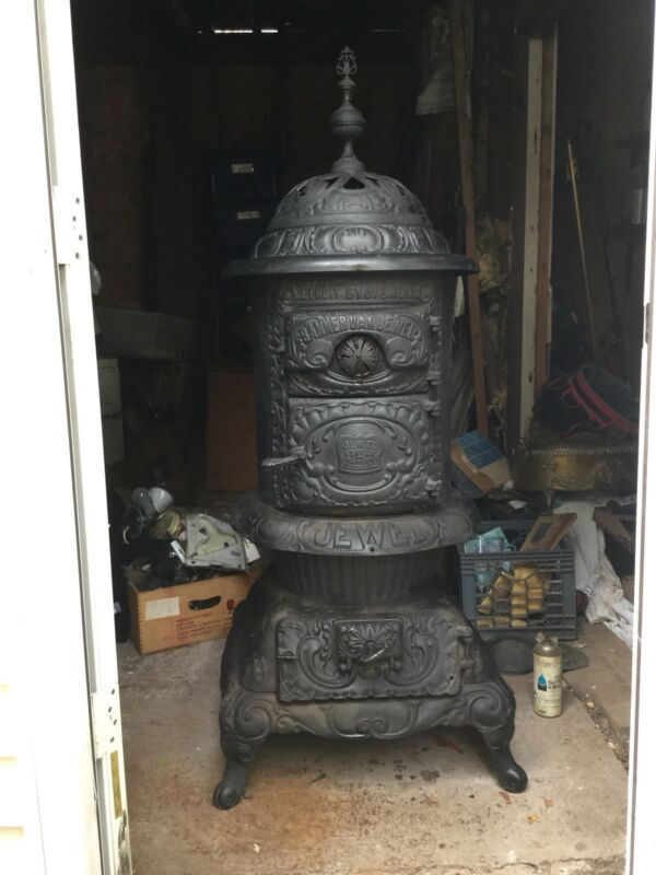 Antique Cast Iron Parlor Stove Detroit Stove Works