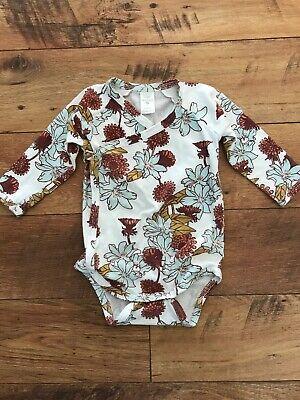 Kate Quinn Organics Kimono Bodysuit Retro Floral 6-12 Months