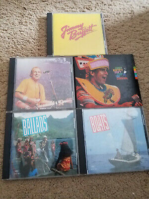 Jimmy Buffett - 5 CD LOT - Ballads Boats Feeding Frenzy Best Of Greatest Hits
