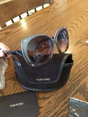 NEW!  Tom Ford Women's sunglasses Cat Eye FT0362 Gray Frames