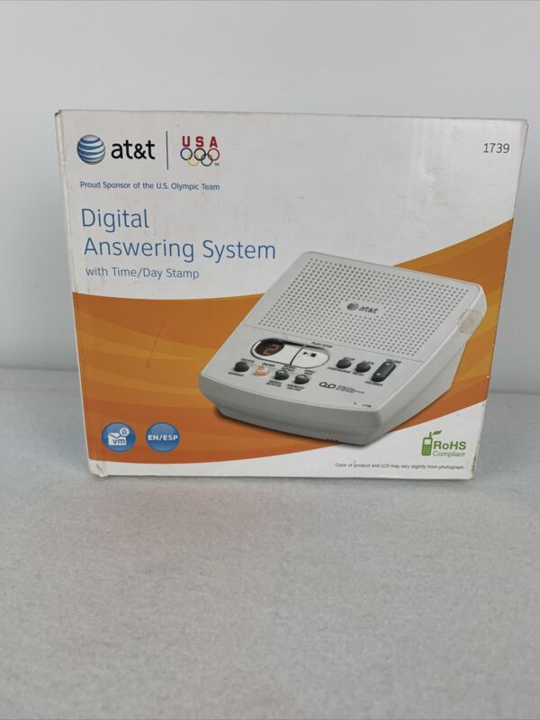 AT&T 1739 Digital Answering Machine System 60 Minute Remote Access Telephone NEW