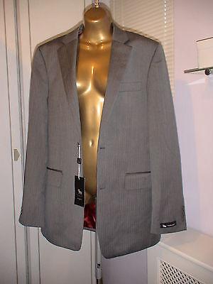 Herringbone Jacket Charcoal (Chester Barrie 38R 100% Wool Herringbone Charcoal Jacket RRP £250)