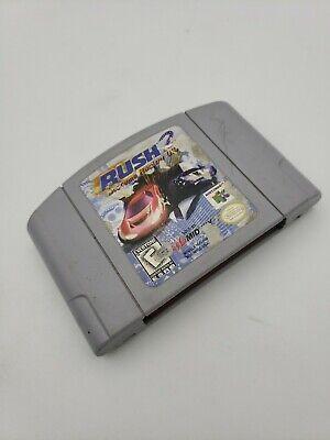 Rush 2: Extreme Racing USA (Nintendo 64, 1998) Authentic! Tested-
