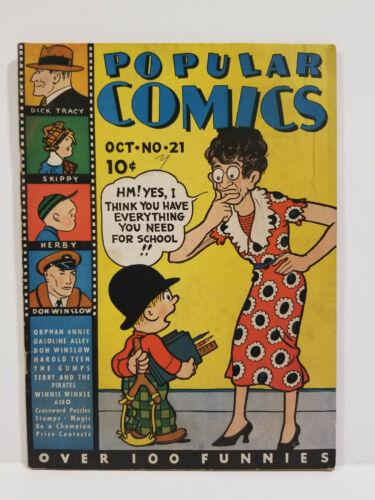 Popular Comics # 21, Platinum Age Dell! (Dell 1937)