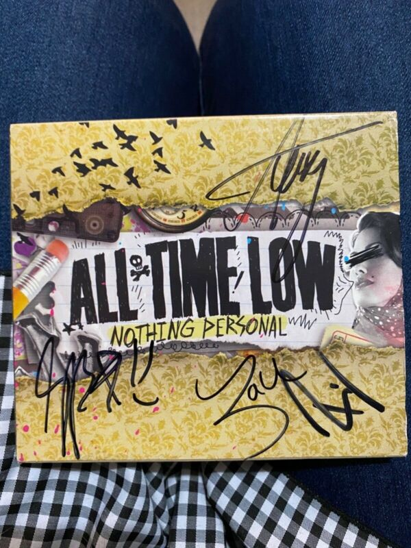 Signed 'Nothing Personal' by All Time Low (all members signed)