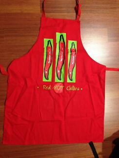 Brand New Red Kitchen Cooking Apron Gift Sydney City Inner Sydney Preview