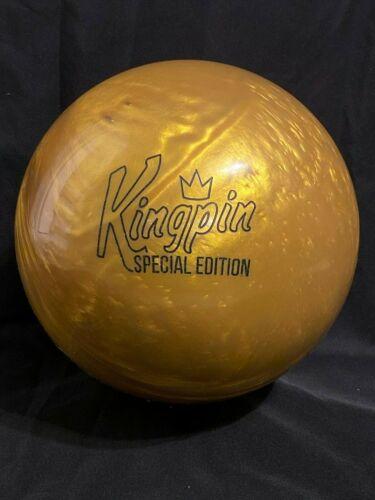 BRUNSWICK Kingpin Gold SE BOWLING ball 15 lbs 1st quality  NIB Pin 3-4