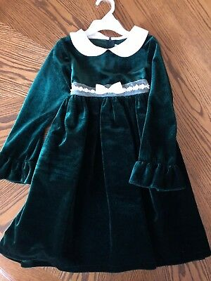Good Lad Christmas Dress - 6X Good Lad of Philadelphia Boutique Girls Christmas Holiday Dress Green Ivory