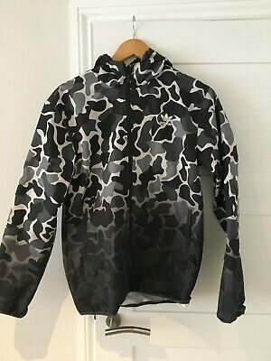 Adidas originals trefoil camo/camouflage drip windbreaker jacket S Grey black