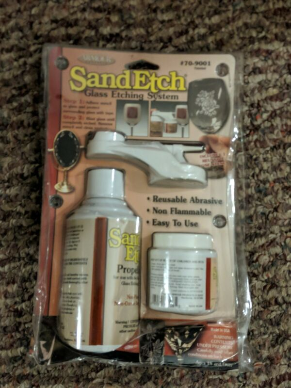 Sand Etch Glass Etching System Armour Products #70-9001 New in Damaged Package