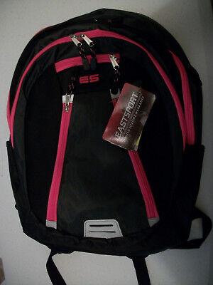 Black With Dark Pink Zippers Eastport Teen/Adult Backpack - Dark Black Teens
