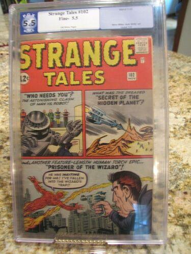 Strange Tales # 102 PGX 5.5  1st Wizard  1962