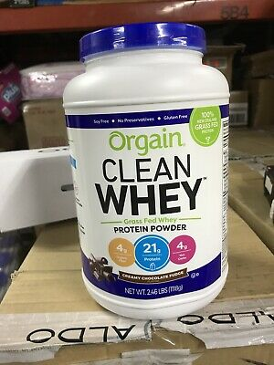 ORGANIC CLEAN WHEY GRASS FED WHEY PROTEIN POWDER CREAMY CHOCOLATE FUDGE 2.46 LBs Organic Whey Protein Powder