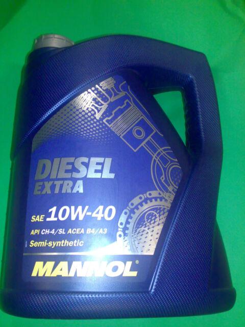 5 LITER MANNOL MOTORÖL 10W-40 DIESEL Extra API CH-4/SL ACEA B4/A3 505.00/502.00